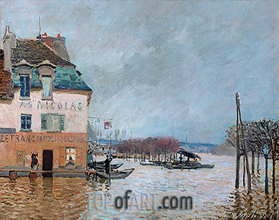 The Flood at Port-Marly, 1876 | Alfred Sisley | Painting Reproduction