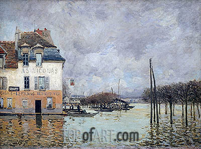 Alfred Sisley | The Flood at Port-Marly, 1876