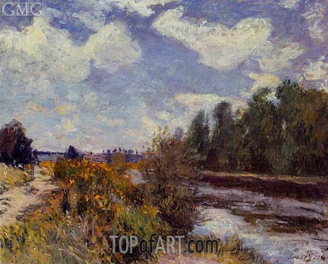 The Seine at Bougival, 1876 | Alfred Sisley | Painting Reproduction