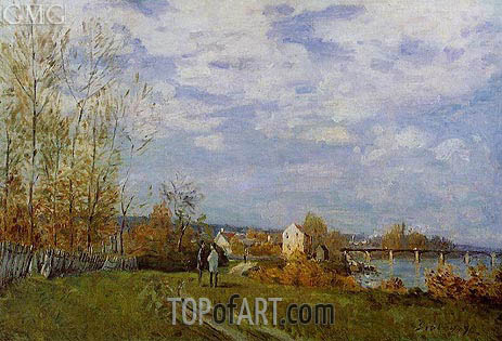 The Banks of the Saine at Bougival, 1876 | Alfred Sisley | Painting Reproduction