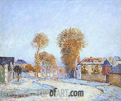 The First White Frost, 1876 | Alfred Sisley| Painting Reproduction