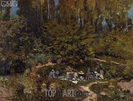 Washerwomen, 1876 | Alfred Sisley | Painting Reproduction