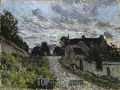 A Small Street in Louveciennes, 1876 | Alfred Sisley | Gemälde Reproduktion