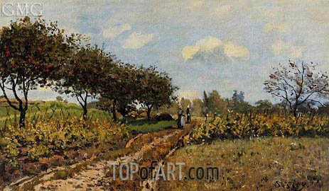 Alfred Sisley | The Path in the Country, 1876