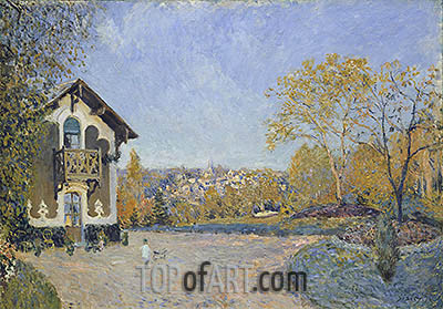 View of Marly-le-Roi from Coeur-Volant, 1876 | Alfred Sisley | Painting Reproduction
