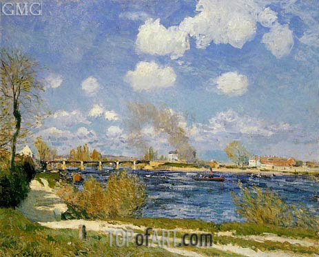 Bougival, 1876 | Alfred Sisley | Painting Reproduction