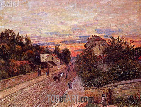 Sunset at Port-Marly, 1876 | Alfred Sisley | Painting Reproduction