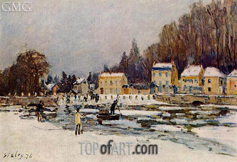 The Blocked Seine at Port-Marly, 1876 | Alfred Sisley | Gemälde Reproduktion