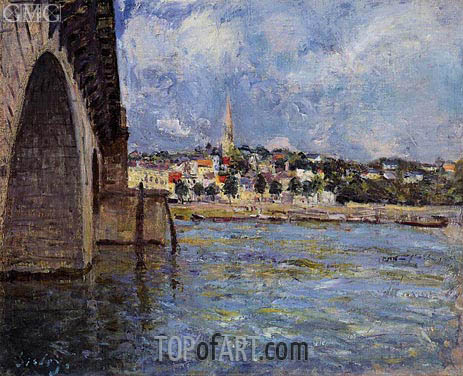 The Bridge at Saint-Cloud, 1877 | Alfred Sisley | Painting Reproduction
