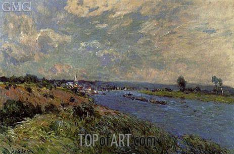 Alfred Sisley | The Seine at Saint-Cloud, 1877