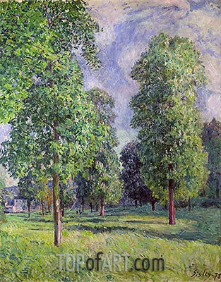 Landscape at Sevres, 1878 | Alfred Sisley| Painting Reproduction