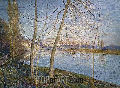 Winter Morning - Veneux, 1878 | Alfred Sisley | Painting Reproduction