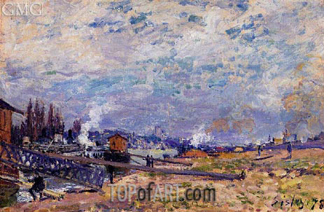 The Saine at Grenelle, 1878 | Alfred Sisley | Painting Reproduction