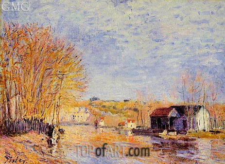 Alfred Sisley | High Waters at Moret-sur-Loing, 1879