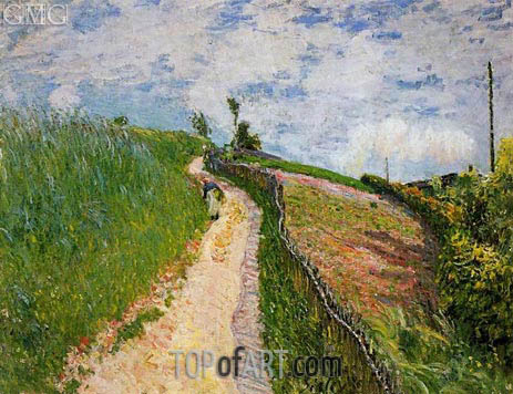 Path Leading to Ville D'Avray, 1879 | Alfred Sisley | Gemälde Reproduktion