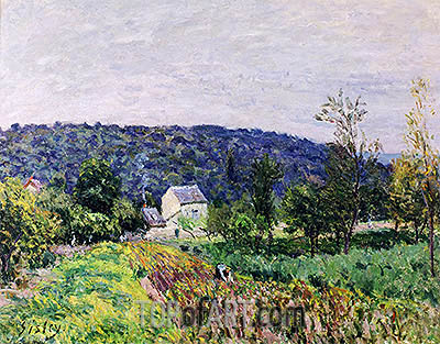 Autumn Evening on the Outskirts of Paris, 1879 | Alfred Sisley| Gemälde Reproduktion