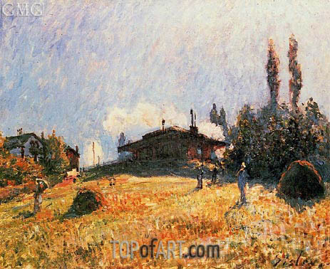 Alfred Sisley | The Station at Sevres, c.1879