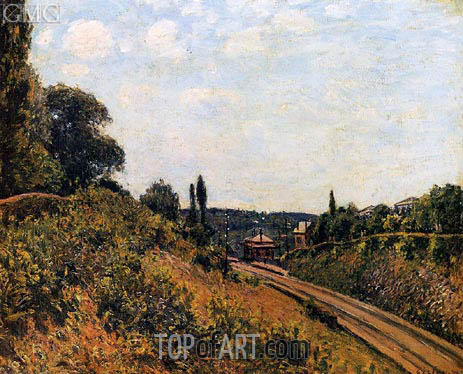 Alfred Sisley | The Station at Sevres, 1879