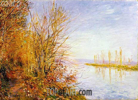 Chemin de By through Woods at Rouches-Courtaut, 1880 | Alfred Sisley | Painting Reproduction