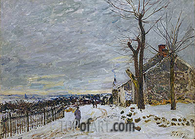 Snow at Veneux-Nadon, 1880 | Alfred Sisley| Painting Reproduction