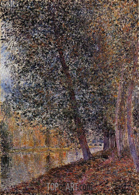 The Banks of the Loing, Autumn, 1880 | Alfred Sisley | Gemälde Reproduktion