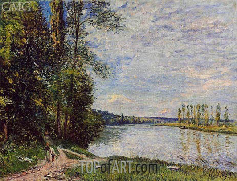 The Riverside Road from Veneux to Thomery, 1880 | Alfred Sisley | Painting Reproduction