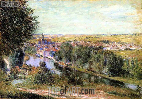 View of Moret, 1880 | Alfred Sisley | Gemälde Reproduktion