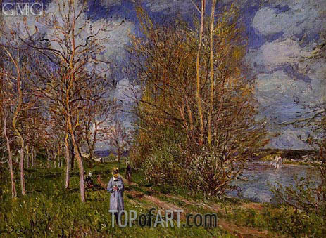 The Small Meadows in Spring, c.1880/81 | Alfred Sisley | Gemälde Reproduktion