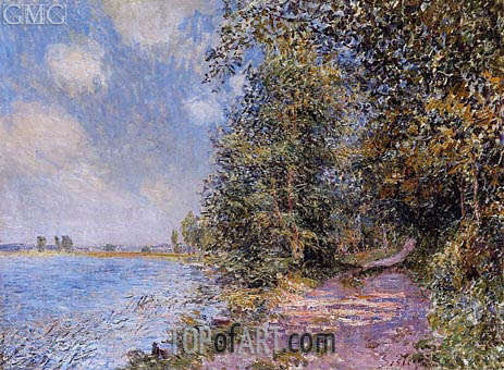 An August Afternoon near Veneux, 1881 | Alfred Sisley | Painting Reproduction