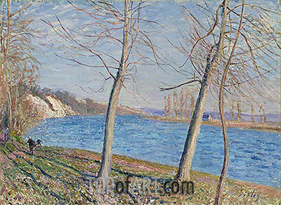 The Banks of the River at Veneux, 1881 | Alfred Sisley| Painting Reproduction
