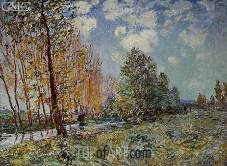 Alfred Sisley | By the River, 1881