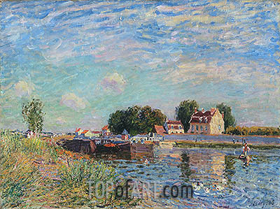 The Loing at Saint-Mammes, 1885 | Alfred Sisley| Painting Reproduction