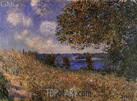 Alfred Sisley | Near the Banks of the Seine at By, 1882
