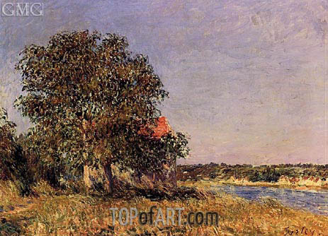 The Plain of Thomery and the Village of Champagne, 1882 | Alfred Sisley | Painting Reproduction