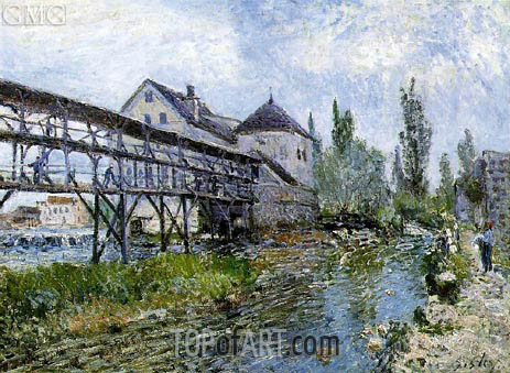 Provencher's Mill at Moret, 1883 | Alfred Sisley | Painting Reproduction