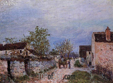 A Street in Veneux, 1883 | Alfred Sisley | Painting Reproduction