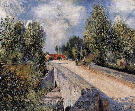 Alfred Sisley | Bridge over the Orvanne near Moret, 1883