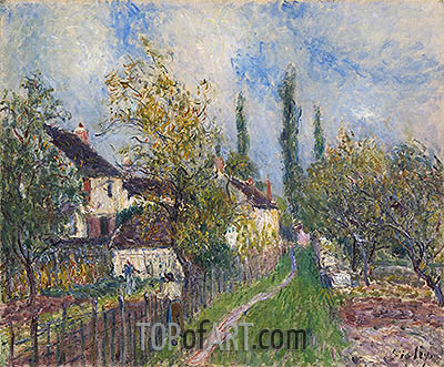 Path at Sablons, 1883 | Alfred Sisley| Gemälde Reproduktion