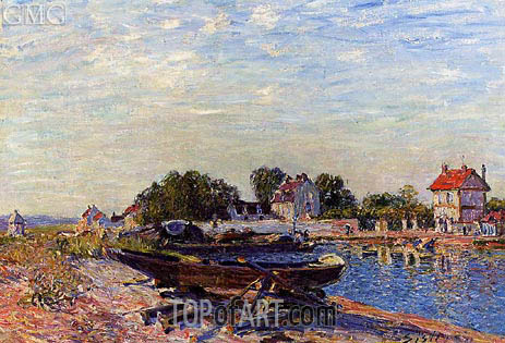The Loing at Saint-Mammes, 1885 | Alfred Sisley | Gemälde Reproduktion
