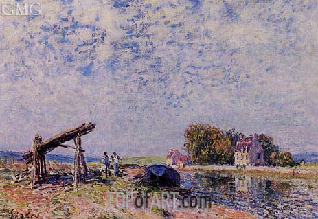The Loing at Saint-Mammes, 1884 | Alfred Sisley | Painting Reproduction