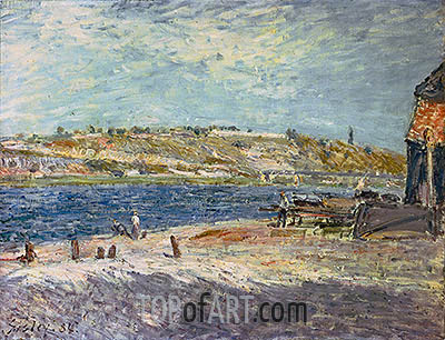 River Banks at Saint-Mammes, 1884 | Alfred Sisley| Painting Reproduction