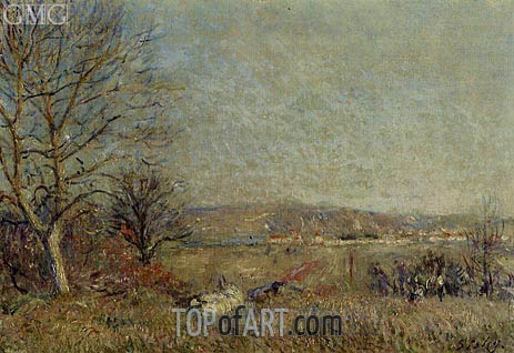 Alfred Sisley | The Plain of Veneux, View of Sablons, 1884