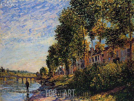 Morning Sun at Saint-Mammes, 1884 | Alfred Sisley | Painting Reproduction