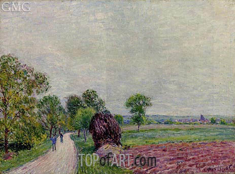 The Countryside near Moret, 1885 | Alfred Sisley | Gemälde Reproduktion