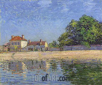 Banks of the Loing, Saint-Mammes, 1885 | Alfred Sisley| Gemälde Reproduktion
