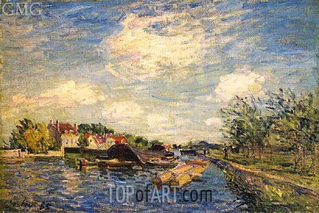 By the Loing, 1885 | Alfred Sisley | Painting Reproduction