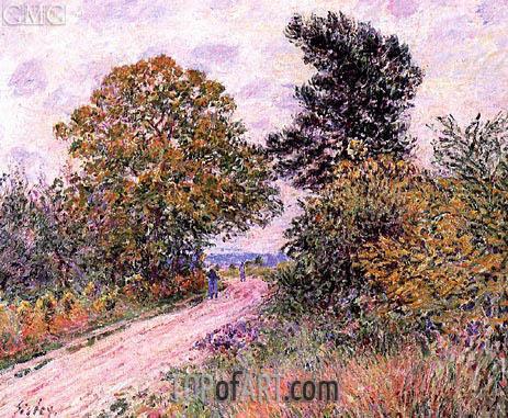 Alfred Sisley | The Edge of the Fontainbleau Forest - Morning, c.1885