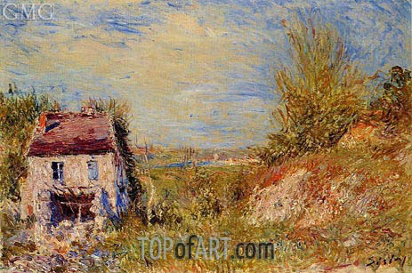 The Abandoned House, c.1886 | Alfred Sisley | Painting Reproduction