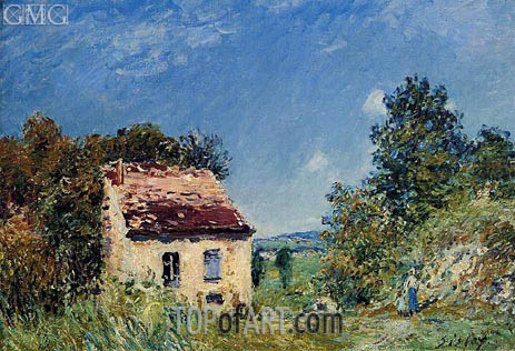 The Abondoned House, 1887 | Alfred Sisley | Painting Reproduction