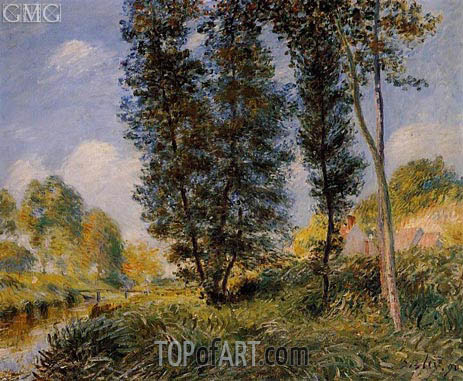 Alfred Sisley | The Banks of the Orvanne, 1890